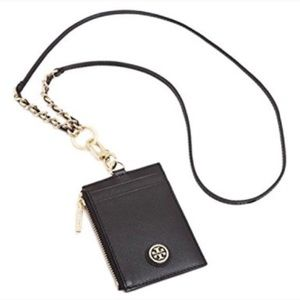 New Authentic TORY BURCH  CARD CASE LANYARD